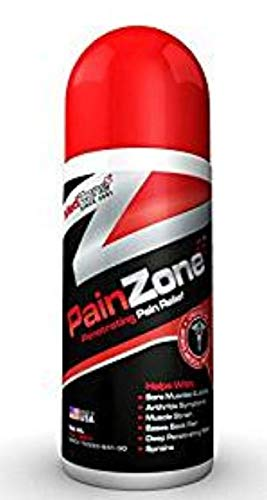 Topical Analgesic Roll On for Pain Relief, Back Pain and Arthritis by Pain Zone, 3 Ounce by MedZone