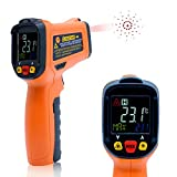 Infrared Temperature Gun,OUTEST -50˚C~300˚C/-58˚F~572˚F Non-Contact Laser Infrared Thermometer Gun with Color LCD Screen, Adjustable Emissivity, Alarm Setting, Max/Hold Display