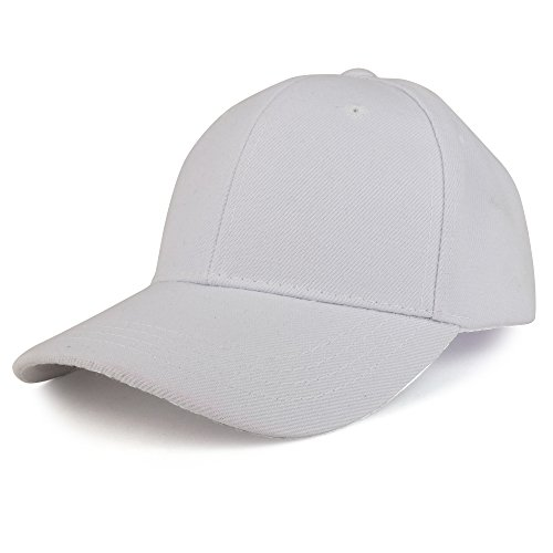 Trendy Apparel Shop Plain Youth Size Kid's Adjustable Structured Baseball Cap - (Childs Ball Cap)