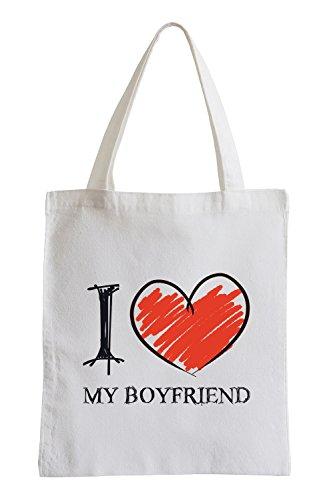 I Love My Boyfriend Divertimento sacchetto di iuta