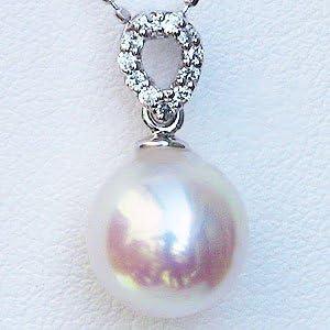 ペンダントトップ パール プラチナ ペンダントヘッド ダイヤ あこや本真珠 8.5mm ダイヤモンド 0.06ct PT900 プラチナ 真珠ペンダントチャーム 記念日 お祝い 結婚式 パーティー