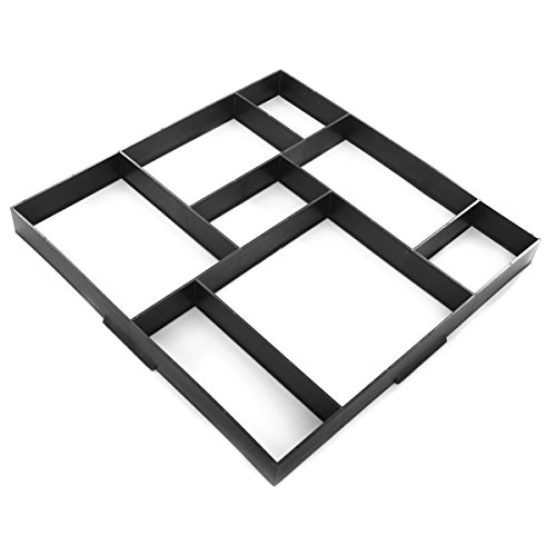 TimmyHouse Driveway Paving Pavement Mold Concrete Stepping Stone Path Walk Maker 8 grid