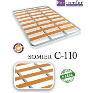 SOMIER C-110 Patas Sin patas Medida GEMELOS 160X200
