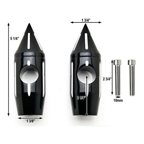 Krator Custom Black Motorcycle 1 Handlebar 2.25 Risers For Harley Davidson Dyna Glide Wide Glide FXDWG FXWG
