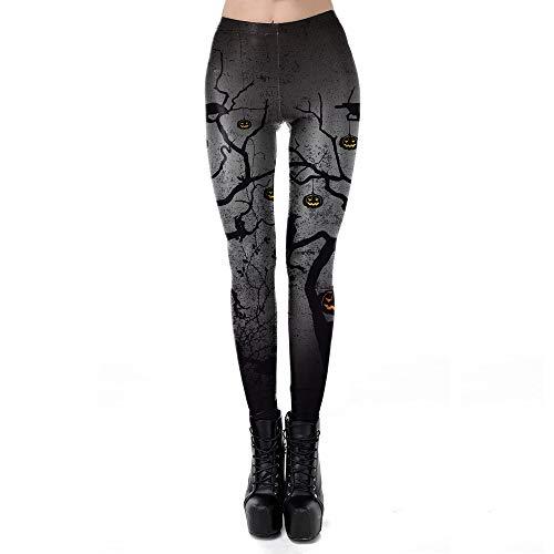 Adult Scary Crow Costumes Plus Size - Halloween Leggings Plus Size 3D Black