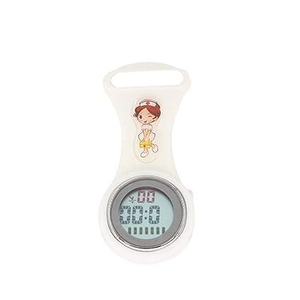 YUnnuopromi Reloj de Enfermera con Calendario de Silicona, Luminoso, Mini Reloj Digital de Bolsillo