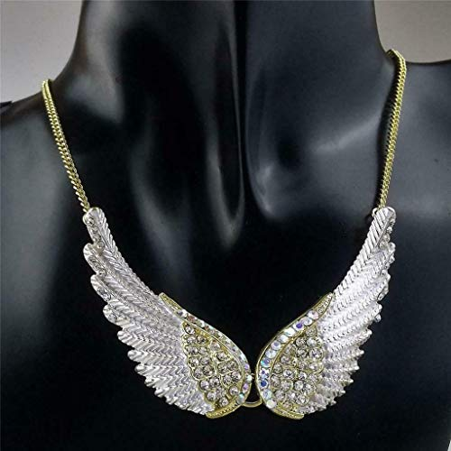 Angle Wings Pendant Necklace Chain Birthday Gift Party Decoration Necklace Jewelry Crafting Key Chain Bracelet Pendants Accessories Best| Color - 4 -