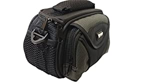 Canon VIXIA HF R700 Camcorder Case Camcorder and Digital Camera Case - Carry Handle & Adjustable Shoulder Strap - Black / Grey - Replacement by Synergy by Dynamic Power