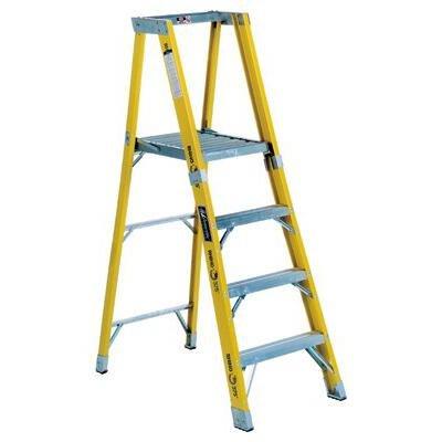 4 ft Fiberglass Step Ladder with 375 lb. Load Capacity