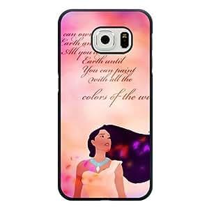 For SamSung Galaxy S3 Case Cover Diy Disney Princess Pocahontas Black Hard Shell For SamSung Galaxy S3 Case Cover Pocahontas Edge Case(Only Fit for Edge)