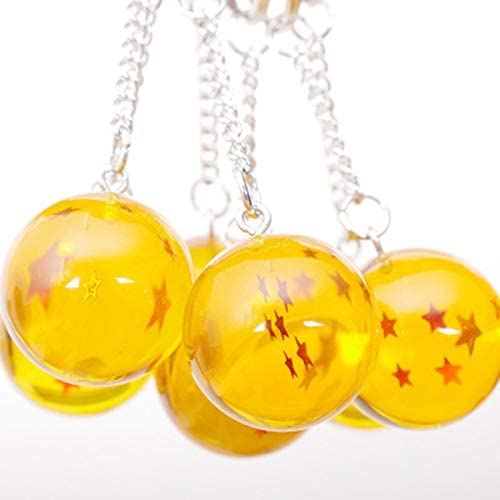 Vvciic Cartoon Anime Dragon Ball Portachiavi Bambino Dragonball 4 Stelle sfera Portachiavi