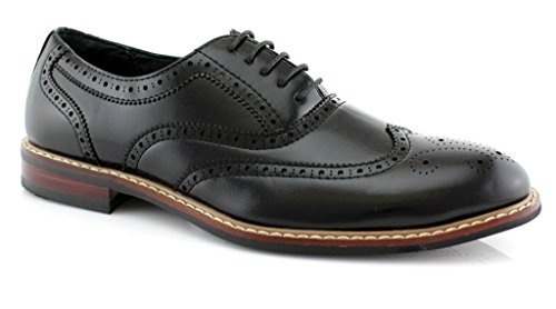 Lined Leather Driver (Ferro Aldo Mens Causal Wingtip Oxfords Modern Spectator Style (9.5, All)
