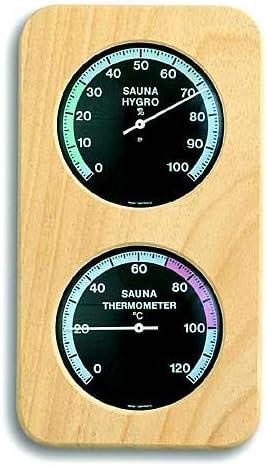 TFA SAUNA Thermometer THERMO Hygrometer Abachi-schwarz 401004