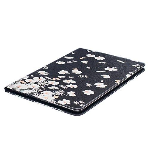 Trumpshop Smartphone Carcasa Funda Protección para Apple iPad Air 2 (9.7-Pulgadas) + Gongfu Panda + PU Cuero Caja Protector Billetera Choque Absorción Pequeño Floral