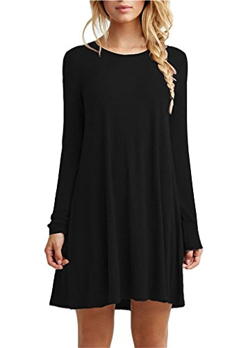 Bestown Women's Long Sleeve Scrubs Shirt Dress Lightweight Cotton Womens Night Olive Christmas Shirts For Women Juniors Teen Tshirt (Teen Christmas Dress)