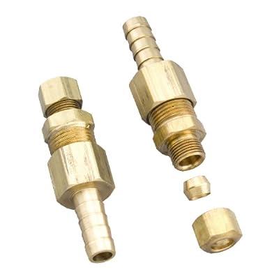 "Derale 13032 3/8"" Cooler line to 3/8"" NPT Hose Barb Universal Transmission Line Fitting: Automotive"