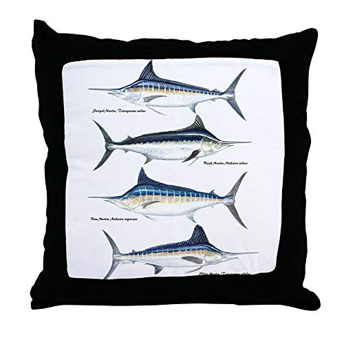 (CafePress 4 Marlin Decor Throw Pillow (18
