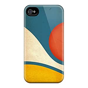 Protection Case For Iphone 4/4s / Case Cover For Iphone(wave And Sun)