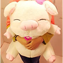 Lovely angel pig doll plush toy 40 cm cloth doll pig pillow dolls lovers Christmas gift