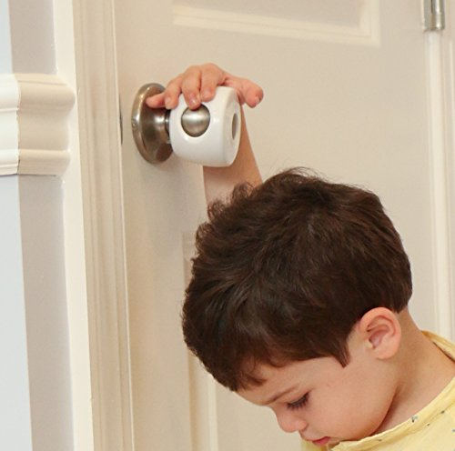 Door Knob Covers - 4 Pack - Child Safety Cover - Child Proof Doors by Jool Baby ()
