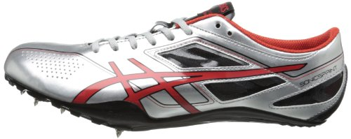 ASICS Men's Sonicsprint Track Shoe,Silver/Fire Red/Black,8 M US by ASICS (Image #5)
