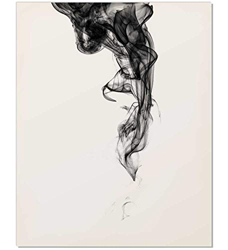 Zen Wall Art, Zen Art, Smoke Print, Smoke Art, Abstract Art, Minimalist Art, Abstract Print, Abstract Wall Art, Modern Minimalist, Black and White Art, Modern Poster, Minimalist Poster, 8x10