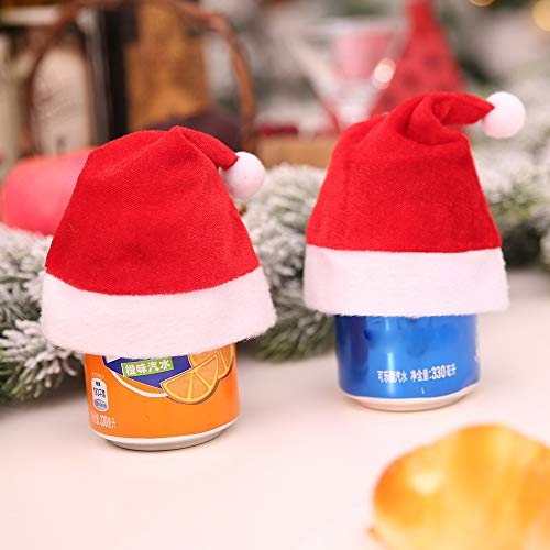 Lovewe Mini Christmas Hat,Mini Christmas Apple Wine Bottle Caps,Santa Claus Hat Table Home Xmas Gift(1/6Pc) (1Pc) by Lovewe_Christmas Decor (Image #5)