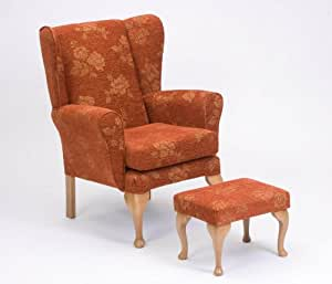 Queen Anne Fireside Highback wingback chair by Drive Medical