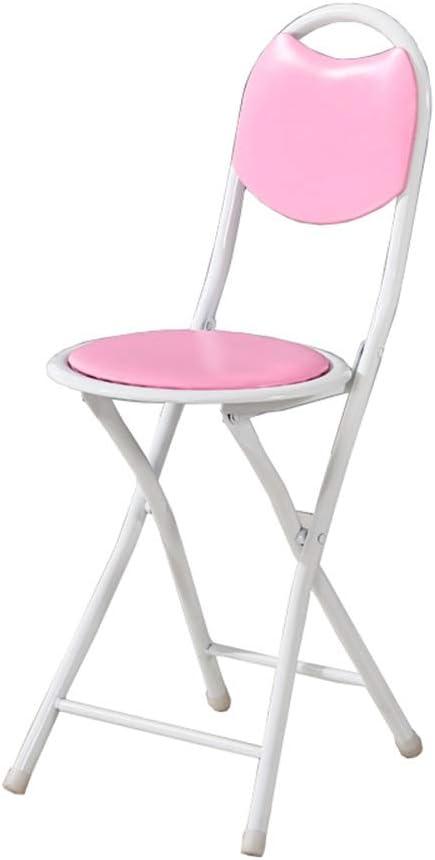 LKH Silla Redonda, sillas Plegables portátiles al Aire Libre ...