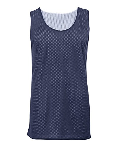 Navy Blue/White Youth Small Reversible Mesh Tank Top Jersey Uniform