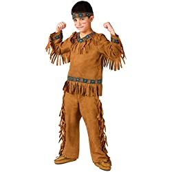 Fun World American Indian Boy Chld Med