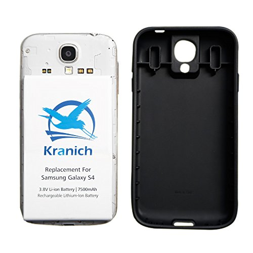 Kranich for Samsung Galaxy S4 Extended Battery 7500mAh - Galaxy S4 Led Screen Replacement