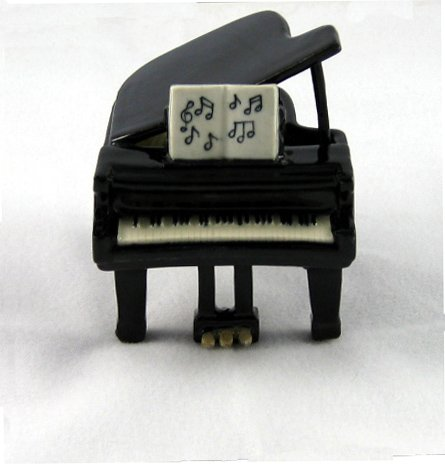 GRAND PIANO Figurine w/Handwritten SHEET MUSIC Miniature Porcelain NORTHERN ROSE MB021