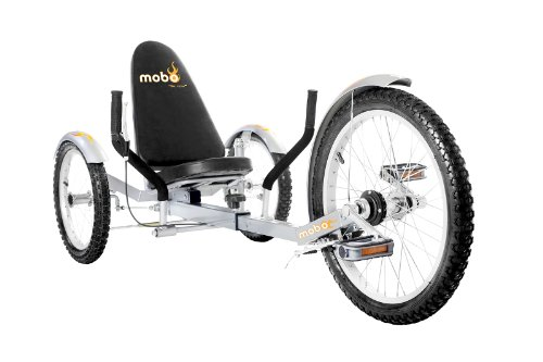 Rider 3 Bike (Mobo Triton Pro Recumbent Tricycle for Men & Women. 3-Wheeled Bike. Cruiser Lowrider Trike)