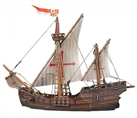 UMBUM Innovative 3D Puzzle - Ancient Ships - Caravel by Clever Paper (390)  50 pcs
