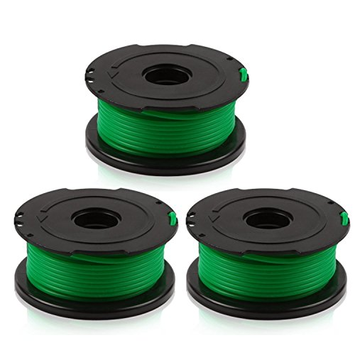LBK INTERNATIONAL LBK Replacement Trimmer Spool Line for Black+Decker, compatible with SF-080 Auto Feed Spool Single Line Trimmer,3-Pack (Trimmer String Feed)