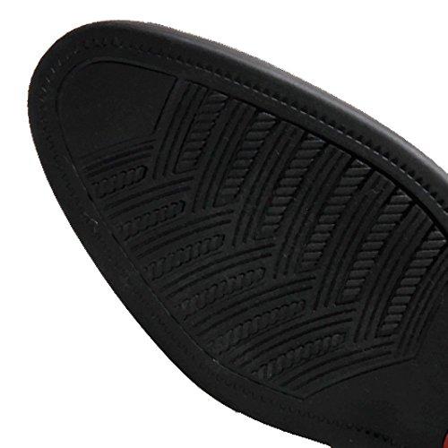 Gomma Uomo Cuoio Resistente Rotonda Scarpe Black di all'Usura Affari da YIWANGO di Maschi Pizzo Testa Traspirante PBwPFpq