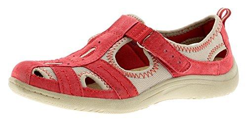 Neu Damen/Damen Rot Earth Spirit Wichita Freizeit/Sportlich Schuhe Kirschrot - UK GRÖßEN 3-9