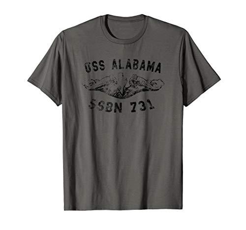 (USS Alabama SSBN 731 Submarine Badge Vintage T-shirt)