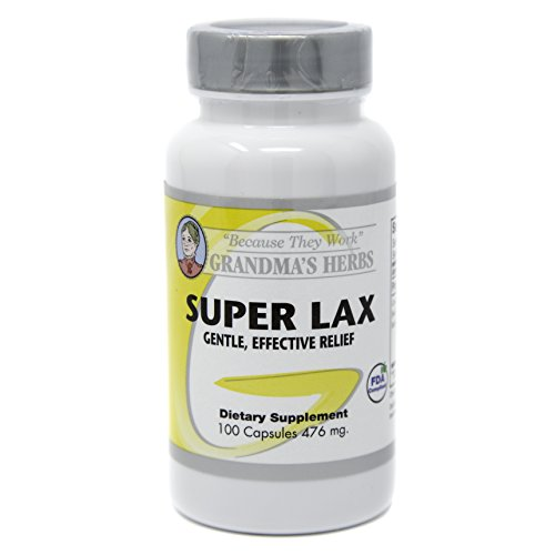 Grandma's Herbs SUPER LAX Most Effective Natural Mild Herbal Laxative with Cascara Sagrada (1)