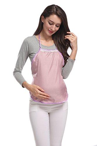 Fibra De Plata Anti-Radiación Ropa De Maternidad Camisole Delantal Shield Delantal SH005