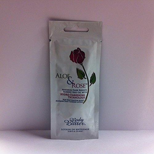 Body Butter Aloe & Rose sunbed tanning lotion (180ml bottle)