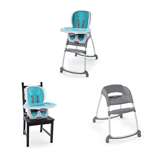 Ingenuity SmartClean Trio 3-in-1 High Chair, Aqua by Ingenuity (Image #1)