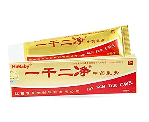 HiiBaby Original Chinese Antibacterial Ointment Creams 1 PACK * 15g (1 PACK * 0.52 OZ) - English Manual