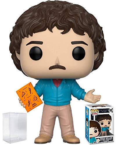 Funko Pop! Television: Friends - 80's Hair Ross Geller Vinyl Figure (Bundled with Pop Box Protector Case)