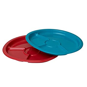 NUK Kids 2 Piece Recycled Plastic Divided Plates  sc 1 st  Amazon.com & Amazon.com : NUK Kids 2 Piece Recycled Plastic Divided Plates : Baby