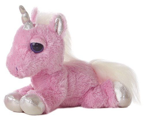 "Aurora World Dreamy Eyes Heavenly Pink Unicorn 10"" Plush"