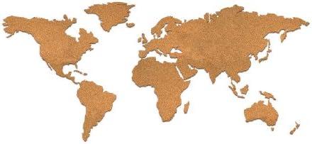 Luckies of London - Tablero de corcho con diseño de mapamundi: Amazon.es: Hogar