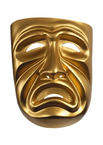 Disguise Costumes Gold Tragedy Mask, Adult