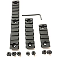 DD DAGGER DEFENSE Multi-Set, Solid-Style, keymod, Picatinny Aluminum Rail Set and Screws for mounting Accessories